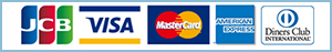 JCB VISA Master Card American Express Diners